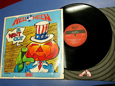 Lp Helloween I Want Out Live  RCA 1989 US 9709-1-R