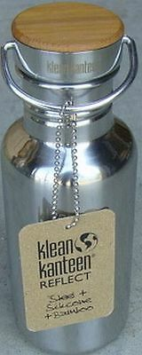 Klean Kanteen Special Edition Bamboo Cap (18oz Mirrored Stainless)