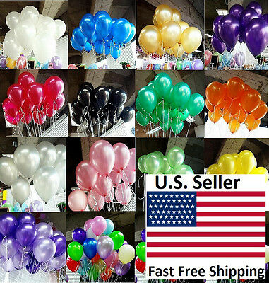 """25/50/100pcs 12"""" Premium Quality Colorful Pearl Latex Thickening Party Balloon"""