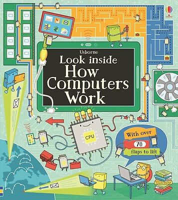 Usborne Look Inside How Computers Work (bb) Alex Frith 70 flaps, coding ++NEW