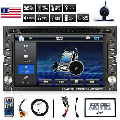 "Double 2Din 6.2"" Car Stereo DVD CD MP3 Player GPS Navi In Dash Bluetooth Radio"