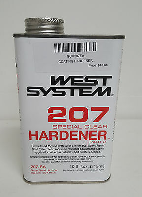 West System 207 SPECIAL CLEAR HARDENER COATING .66 PINT 207-SA