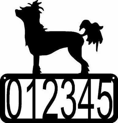 Chinese Crested Dog CUSTOM Personalized ADDRESS House Number Sign Made USA