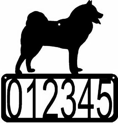 Finnish Spitz Dog CUSTOM Personalized ADDRESS House Number Sign Made USA NEW