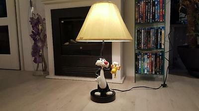 Extremely Rare! Looney Tunes Sylvester Captured Tweety Figurine Statue Lamp