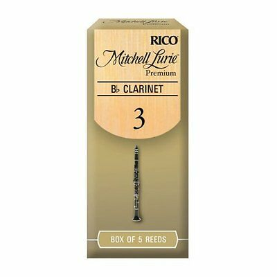 Rico Mitchell Lurie Premium 3.0 Strength Reeds for Bb Clarinet Pack of 5
