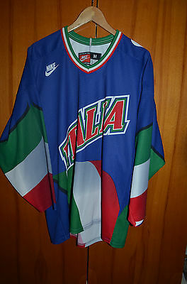 Italy National Team Italia Ice Hockey Shirt Jersey Maglia Nike