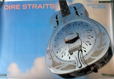 Rare Dire Straits Brothers In Arms 1985 Vintage Record Store Album Promo Poster