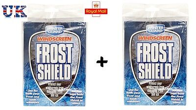 2 X Car Frost Shield, Wind Screen Snow & Ice Protection, Car & Van, Front & Back