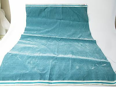 Antique velvet fabric remnant France Victorian cotton silk teal Piece 3319