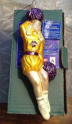 NIB! SLAVIC TREASURES EAST CAROLINA UNIVERSITY PIRATES Cheerleader ORNAMENT ECU