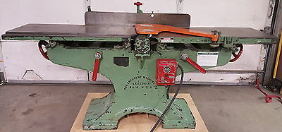 "Crescent 1920's 16"" Cast Iron Parallelogram Jointer, 5HP, 220V, Clean, Checked!"