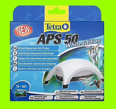 Tetra APS 50 POMPE À AIR AQUARIUM BLANC Edition POMPE A AIR POUR 10-60l aquarium