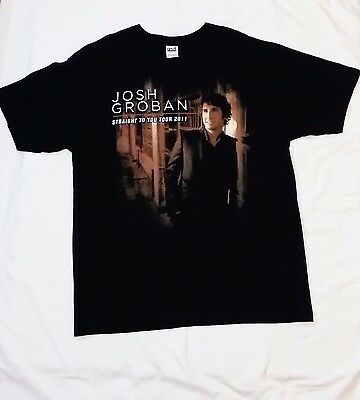 Josh Groban 2011 Straight To You Concert Tour Black 2 Sided Graphic T-shirt XL