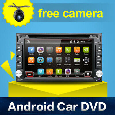 "Quad Core Android 6.0 3G WIFI 6.2"" Double 2DIN Car Radio Stereo DVD Player GPS"