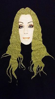 Cher In the New Year 2004 MGM Grand Las Vegas Concert Green Hair T-shirt L
