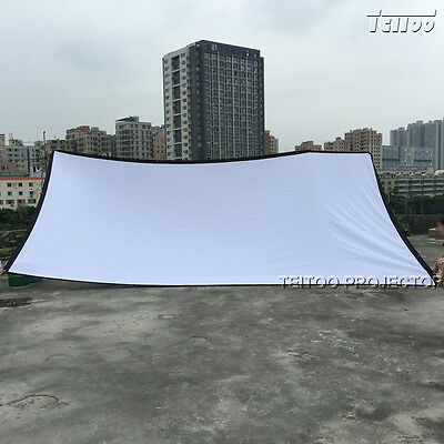 Portable Quick Fold White Movie Ultra 4K Projector Screen Curtain 250 Inch 16:9