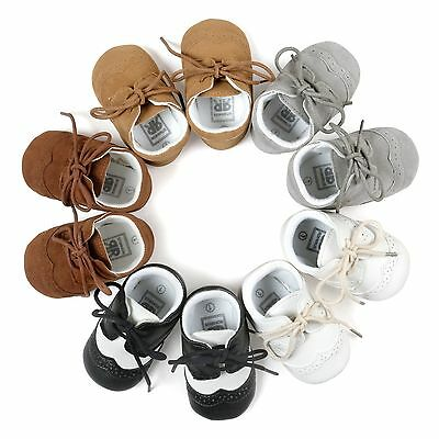 New Baby Infant Boys Girls Soft Sole Nubuck Leather  Moccasins Shoes 0-18 Months