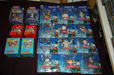 Rudolph The Red Nosed Reindeer 18pc Ornament Lot Misfit Toys Set Enesco Figures+