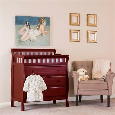 Dream On Me Marcus Changing Table and Dresser, Cherry NEW