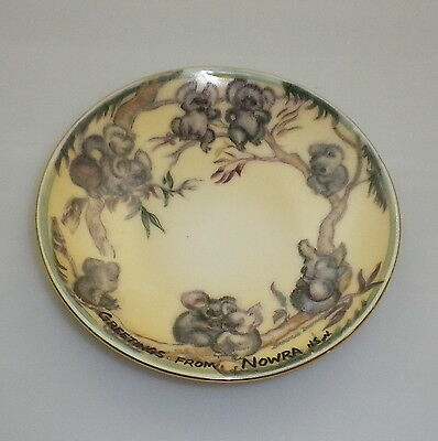 Brownie Downing 1950's pin dish decorated with Koalas.