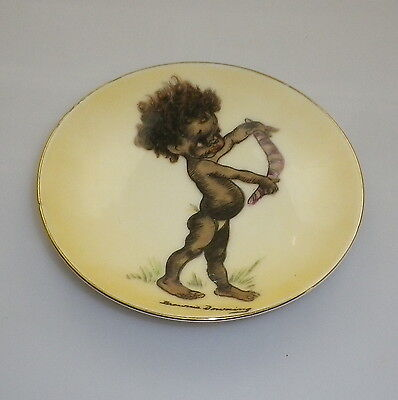 Brownie Downing 1950's pin dish of an Aboriginal child carrying a boomerang