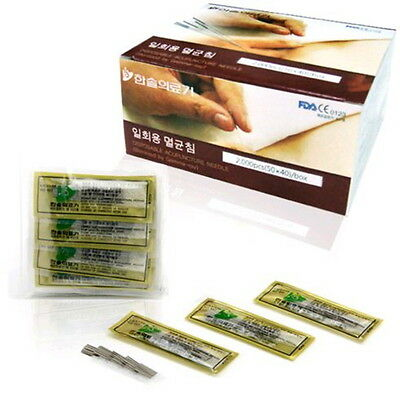 2000 pcs HANSOL Korean SooJi-Chim Disposable Hand Acupuncture 0.18 x 8mm