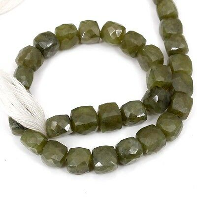 """Lovely Natural Lovely VASONITE Faceted Box Beads 6 mm- 7 mm 10"""" Strand 150 Cts"""