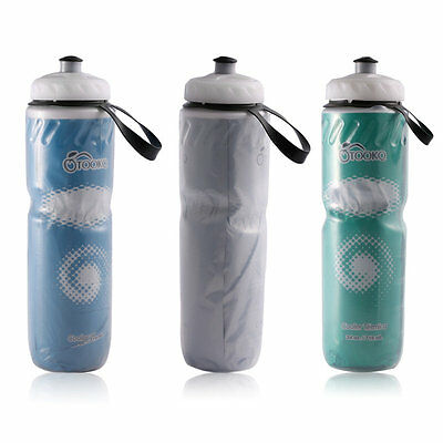 Portable Outdoor Insulated Bicycle Bike Cycling Sport Water Bottle 710ml IB