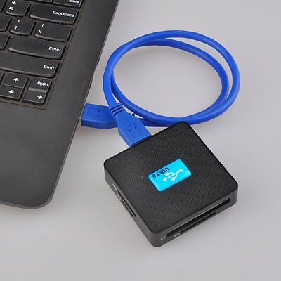 External USB3.0 All In 1 TF CF XD M2 MS Flash Memory Stick Card Reader FG