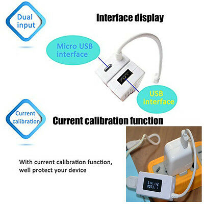 LCD USB Charger  Phone Power Bank Capacity  Current Voltage Tester Meter 3V-7V