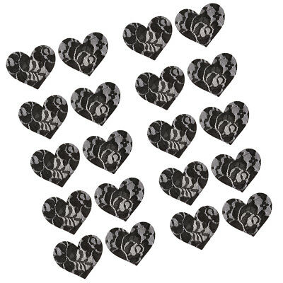 10 Pairs Heart Womens Sexy Pasties Disposable Pasty Set Stain Nipple Cover