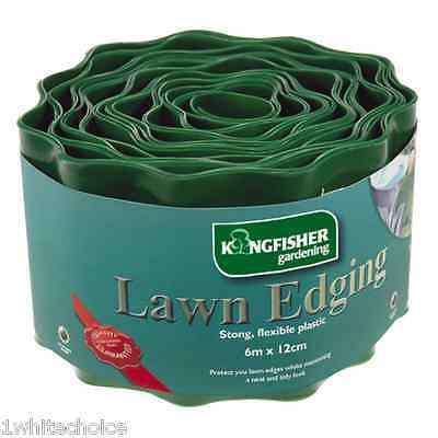 12m Flexible Plastic Garden Grass Path Lawn Edging 12cm Green Edge Gravel Border