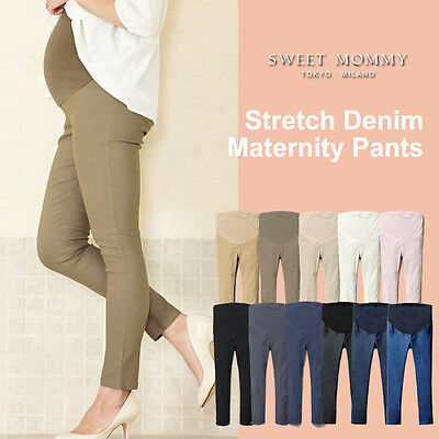 Pantaloni Denim Elasticizzati Premaman Stretch Denim Maternity Pants SP4029