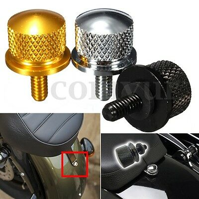 "Billet Rear Top Seat Mount Bolt Knurled Screw For Harley Davidson 1/4"" thread"