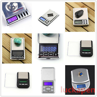 Stainless steel 500g 0.1g Digital Electronic LCD Jewelry Pocket Weight Scale LOT
