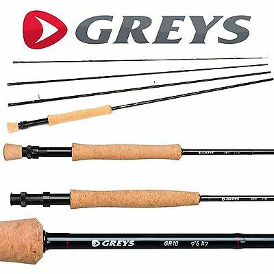Greys GR10 Light 4 Piece Trout Fly Fishing Rod – All Models + Cloth Rod Bag