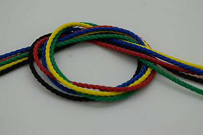2mm Polypropylene Rope Braided Poly Cord Sailing Yacht Boat Climbing