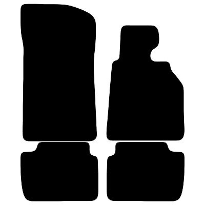 Black Tailored Car Floor Mats For BMW 3 Series E46 2 Door Coupe 4 Piece Set