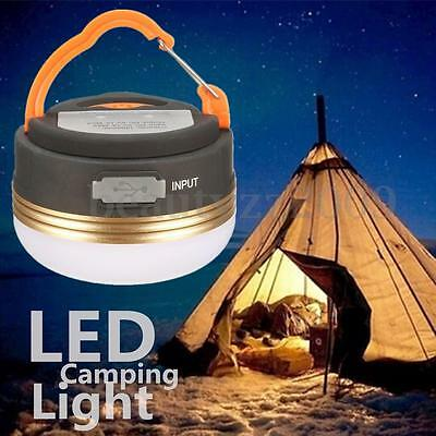 Rechargeable 3W LED Portable Hiking Camping Tent Lantern Light USB Lamp Outdoor