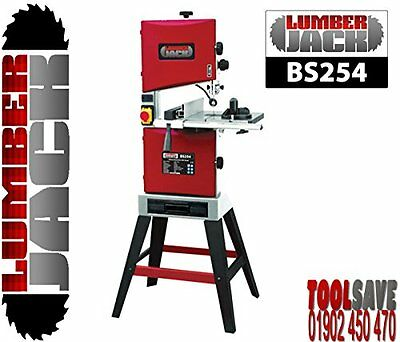 """Lumberjack Band Saw BS254 Professional 254mm/10"""" Tilt Table Woodworking"""