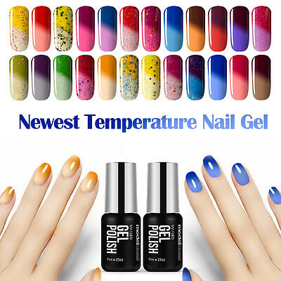 Modelones temperature Color Changing Art Salon Soak Off UV Led Gel Nail Polish