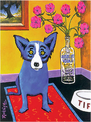ABSOLUT VODKA RODRIGUE BLUE DOG POSTER PRINT 29,7 x 42 cm NEW - 11.7 X 16.5 INCH