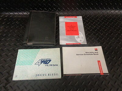 1998 Daihatsu Fourtrak 2.8 Tdl-Se 3Dr Owners Manual With Cover