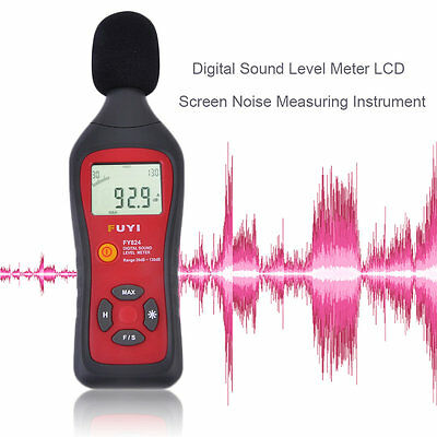 Professional Digital Sound Level Meter LCD Screen Noise Measuring Instrument AU