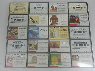 20 Scholastic Childrens Books on Cassette Tape AudioBooks No Doubles 1990s