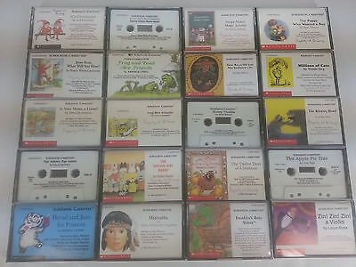 20 Scholastic Childrens Books on Cassette Tape AudioBooks No Doubles