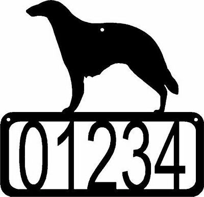 BORZOI Russian Wolfhound Dog CUSTOM Personalized ADDRESS House Number Sign