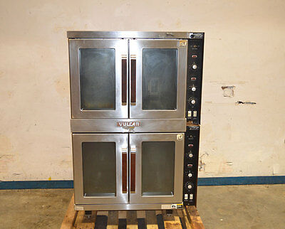 Vulcan ET88RT/B Double-Stack Electric Convection Oven 3-Ph 480V 500F 2Door Glass