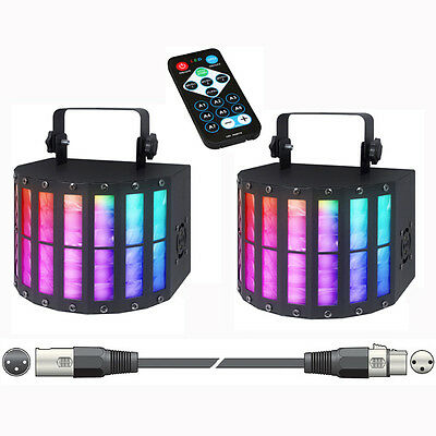 PAIR OF KAM DERBY 9 LED LIGHT EFFECTS with 3 METRE DMX LINK LEAD DJ BAND PARTY